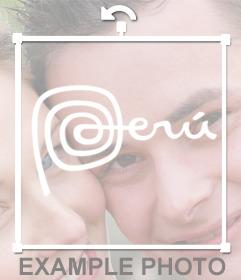 Marca de Perú para añadir a tus fotos como un sticker decorativo