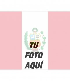 Fotomontaje de tu foto con la bandera de Perú para hacer online