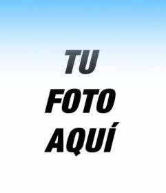Filtro de fotos para que tus fotos tengan un degradado azul y poner una texto online