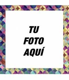 Marco par aponer tu foto de c rculos de colores lilas y - Decorar con marcos de fotos ...