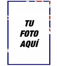 Marco de fotos con la bandera de Australia en vertical para personalizar tus fotografías