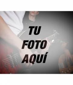Filtro de fotografía con un grupo de música con guitarras para crear un fotomontaje con tu foto online