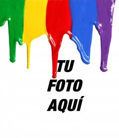 Foto efecto para añadir pintura liquida cayendo en tu foto gratis