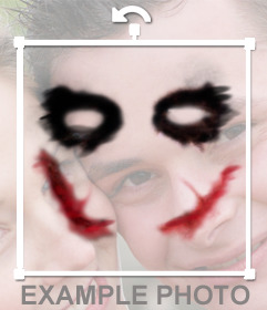 Pegatina efecto el Joker