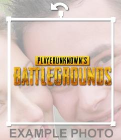 Pon el logo de Player Unknown battlegrounds en tu foto