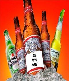 Fotomontaje para poner tu foto en una cerveza
