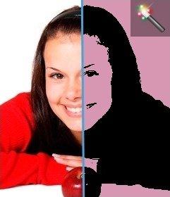 Pon un efecto Pop Art en tu foto, fondo rosa. Perfecta para hacer tus fotos de perfil