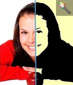 Efecto para fotos en el que tu foto se transformará en un cuadro de Warhol el artista Pop Art. Fondo color amarillo claro