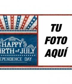 Postal para celebrar la Independencia de los Estados Unidos de America
