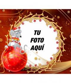 Felicitaciones De Navidad Para Infantil.Postal Infantil Para Felicitar La Navidad Con Un Ratoncito