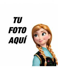 La princesa Anna de Frozen en tus fotos con este montaje gratis