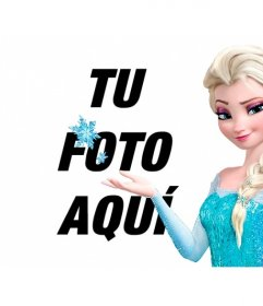 Fotomontaje para poner tu foto junto a Elsa de Frozen