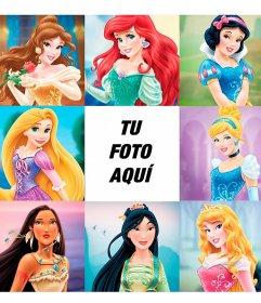 Montaje infantil con las Princesas más famosas del mundo para ponerte entre ellas