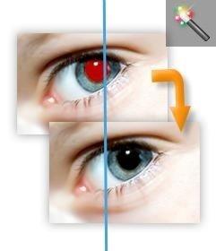 Herramienta para eliminar ojos rojos para modificar tu foto online.