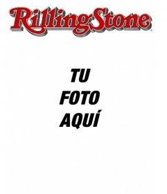 Rolling Stone portada personalizable con tu foto. Edita la plantilla desde la propia página, solo tienes que subir una imagen. Sal en una revista