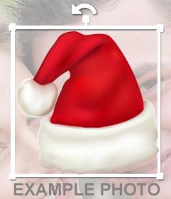 Fotomontaje de Gorro de Santa Claus de forma alargada para poner en tus fotos.