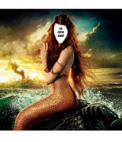 Tu cara en el cuerpo de una sirena con este montaje online