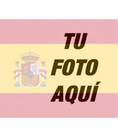Fotomontaje para poner la bandera de España en tu foto que puedes usar en tu foto de perfil