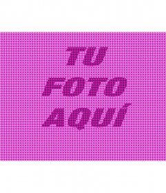 Textura de color rosa para aplicar a tus fotos con formas de estrella