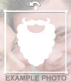 Barba blanca de Papa Noel que puedes pegar en tus fotos online
