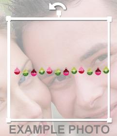 Adorno para fotos de unas bolas decorativas de Navidad gratuito