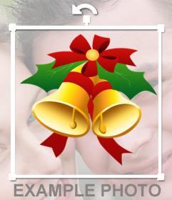 Efecto para decorar tus fotos con unas campanas de navidad online