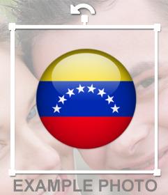 Sticker de chapa de la bandera Venezuela para tus fotos