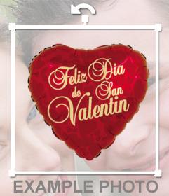 Globo de corazón para decir Feliz Día de San Valentin