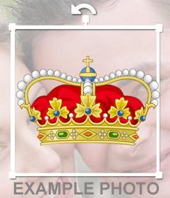 Corona real de reina para pegar en tus fotos como un sticker online