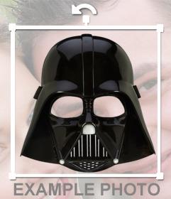 Sticker del casco de Darth Vader para poner en tus fotos