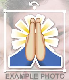 Sticker del emoji de las manos juntas para orar