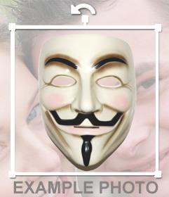 Puedes colocarte la máscara de Anonymous con este sticker