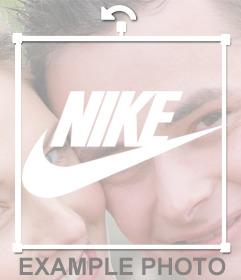 Sticker del logo blanco de Nike para poner en tus fotos