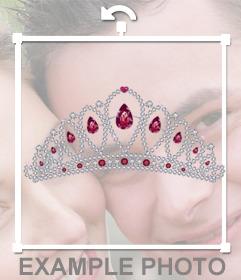 Ponte una tiara de diamantes con este fotomontaje online