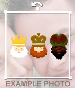Sticker de Los Tres Reyes Magos para poner a tus fotos