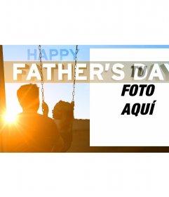 Postal para el día del padre personalizable con una foto que elijas