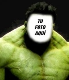 Fotomontaje de Incredible Hulk
