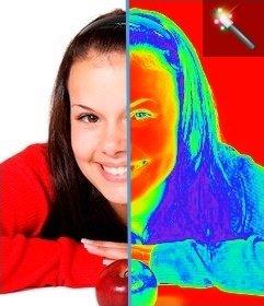 Filtro para fotos efecto termografía, que hace una imagen térmica de la imagen que subas