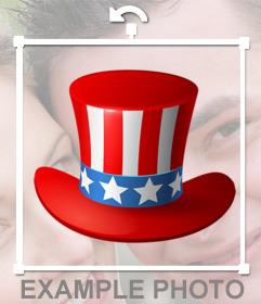 Sombrero del tío Sam para ponerte en tus fotos como sticker online