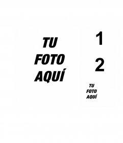 Crea un collage de cuatro fotos con una de fondo grande y tres pequeñas al lado