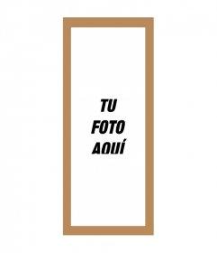 Marco para fotos para fotos triples de 3 cuadros con fondo marrón y blanco
