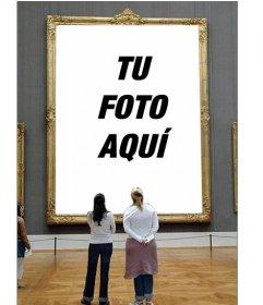 Fotomontaje para poner tu foto en un cuadro de un museo for Cuadros para poner fotos