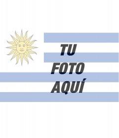 Fotomontaje para poner tu foto junto con la bandera de Uruguay.