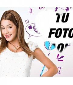 Fotomontaje de Violetta para poner tu foto en forma de corazón