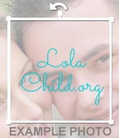 Añadir marca de agua de Lolachild.org
