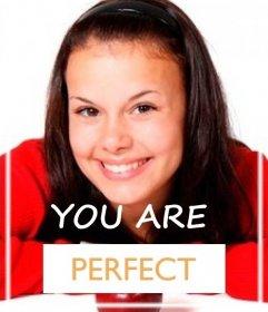 Efecto para decirle a alguien que es perfecto
