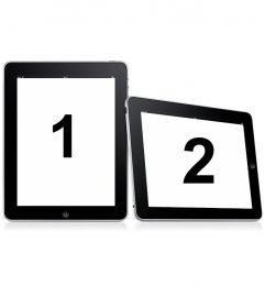 Métete en dos marcos sencillos. Sube dos fotografías para este fotomontaje en que las imágenes aparecen en dos marcos digitales sobre un fondo blanco.