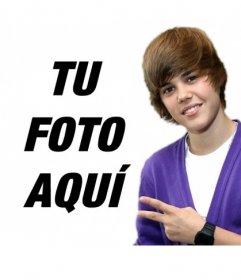 Fotomontaje con Justin Bieber con el pelo corto hacia