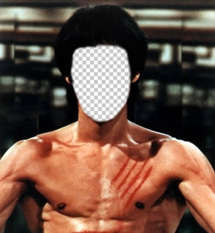 Pon tu cara en el cuerpo de Bruce Lee con este fotomontaje online