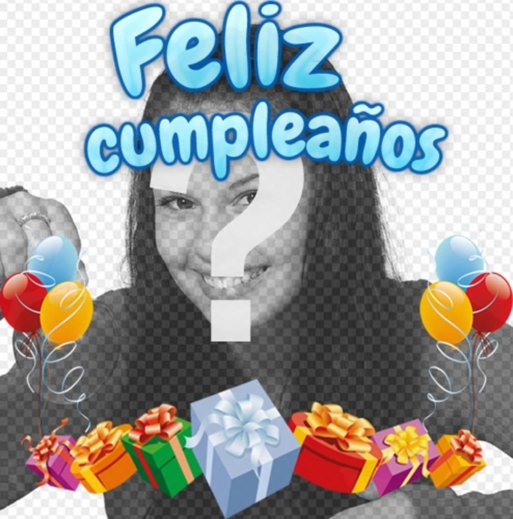 Fotomontaje a modo de tarjeta de felicitación de cumpleaños